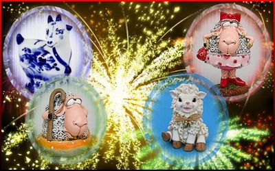 Новогодние гадания Год Синей Козы 2015 Гадания на Новый год Символ года Овца Коза