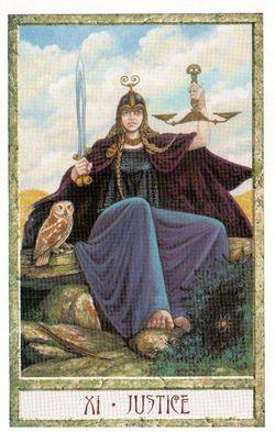 Гадание на Таро на Новый год Карта нового года Магия друидов Справедливость