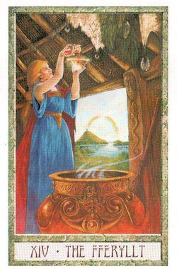 Гадание на Таро на Новый год Карта нового года Магия друидов Умеренность Воздержание