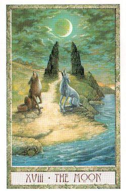 Гадание на Таро на Новый год Карта нового года Магия друидов Луна