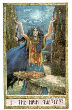 Гадание на Таро на Новый год Карта нового года Магия друидов Верховная жрица