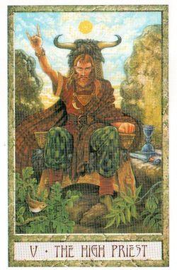 Гадание на Таро на Новый год Карта нового года Магия друидов Верховный жрец