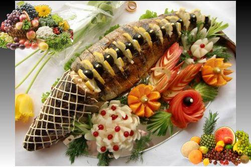 Новогодние гадания Год Огненной Обезьяны 2016 Китайский салат Ю-Шен Рыба запеченая Гадания на Новый год