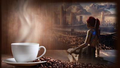 Гадание на кофейной гуще онлайн, окно в будущее, кофе, чашка