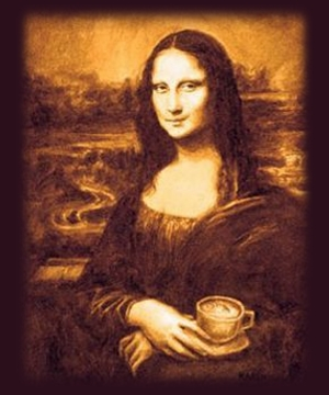 Гадание на кофейной гуще онлайн, Мона Лиза, кофе, чашка